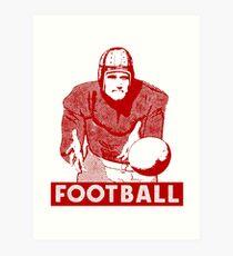 1930 Football Player Art Print