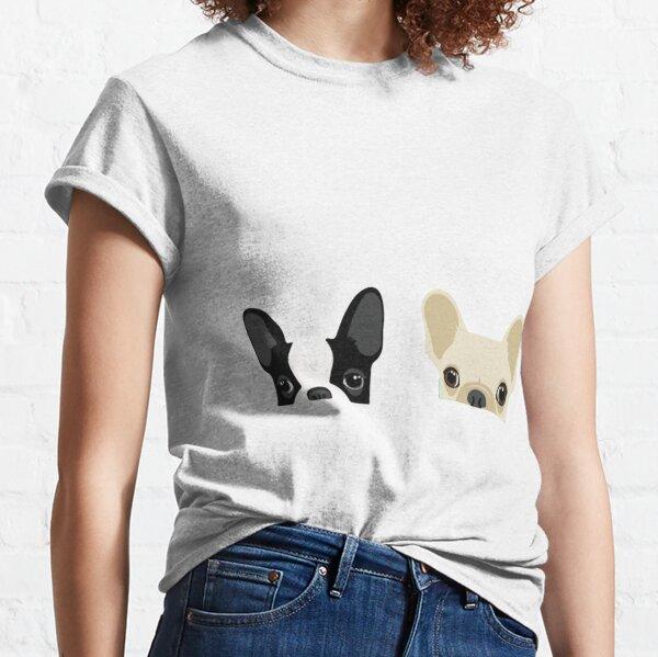 Boston Terrier And French Bulldog Classic T-Shirt