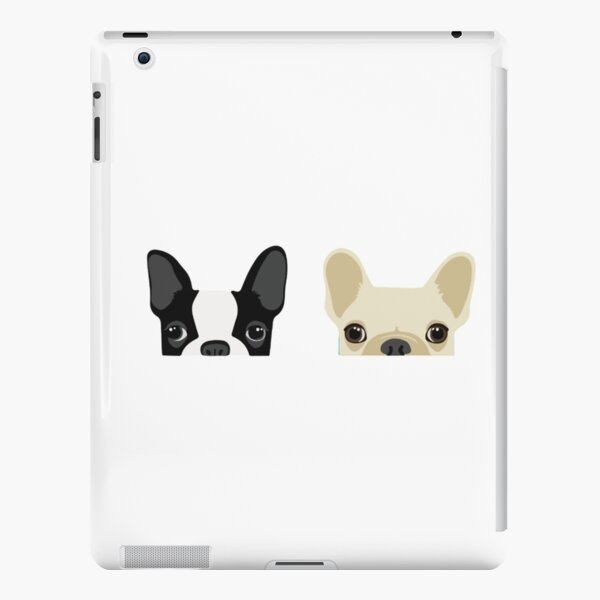 Boston Terrier y Bulldog Francés Funda rígida para iPad