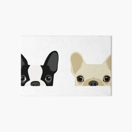Boston Terrier And French Bulldog Art Board Print