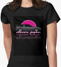 Classic Japan - Nissan Exa Sportbak Womens Fitted T-Shirt