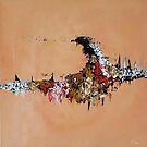 Abstrakte Pfirsich-Malerei von chailyn