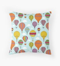 Colorful Hot Air Balloons Floor Pillow