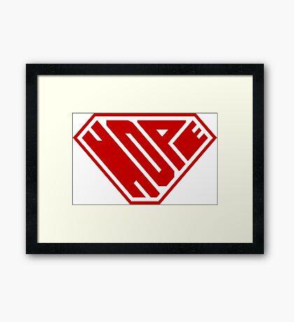 Hope SuperEmpowered (Red) Framed Art Print