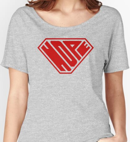 Hope SuperEmpowered (Red) Relaxed Fit T-Shirt