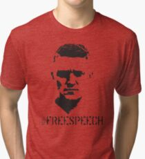 Hashtag Free Speech Free Tommy Tommy Silhouette Tri-blend T-Shirt