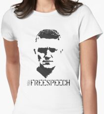 Hashtag Free Speech Free Tommy Tommy Silhouette Women's Fitted T-Shirt
