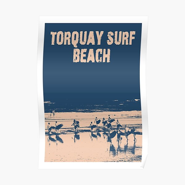 Torquay Surf Beach Travel Poster Poster