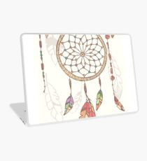 Hand drawn native american dream catcher, beads and feathers Laptop Skin