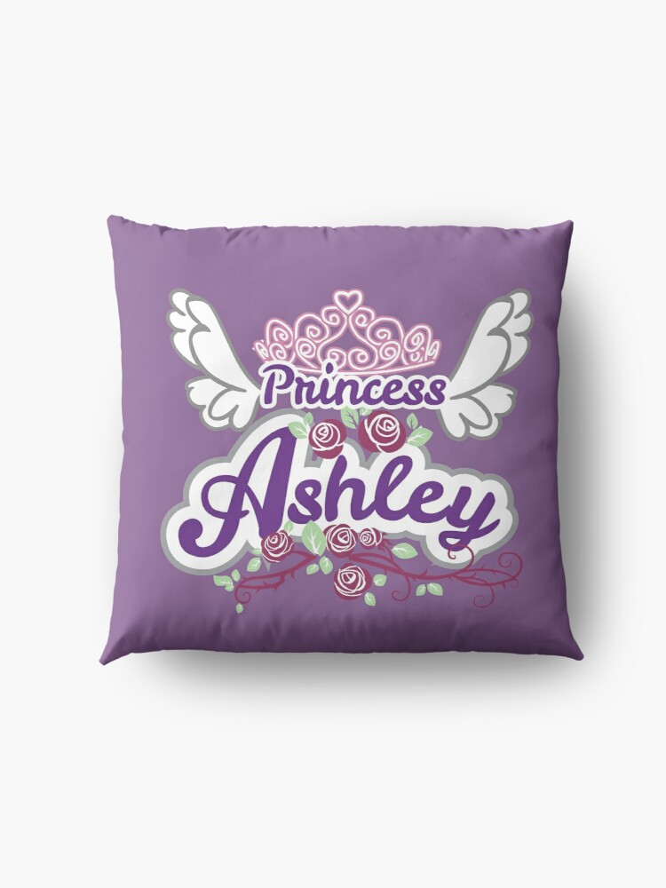 Alternate view of Princess Ashley - Personalized Name Gifts - Princess Birthday Gift for Ashley Floor Pillow