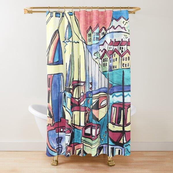 Bristol marina Shower Curtain