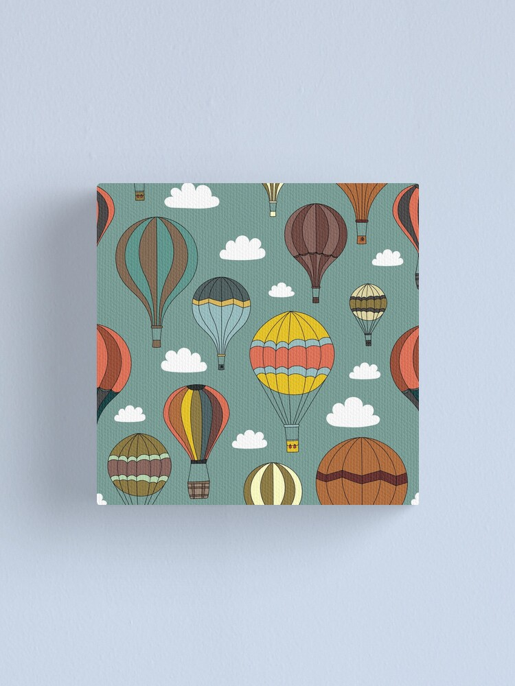 Alternate view of Vintage Hot Air Balloons Canvas Print