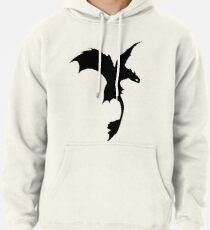 Toothless Silhouette - Plain Pullover Hoodie