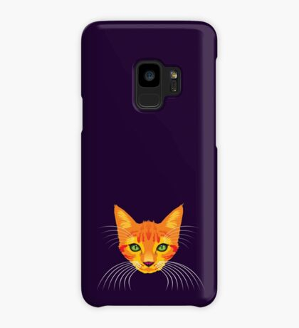 Orange Cat Check ME Out! Case/Skin for Samsung Galaxy