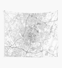 Austin White Map Tapestry