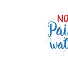 NOT paint water design for artists brushes (with matching PAINT WATER) by jazzydevil