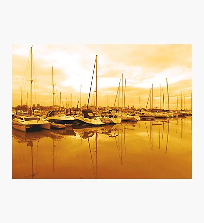 BOATS IN THE WETLAND  Photographic Print