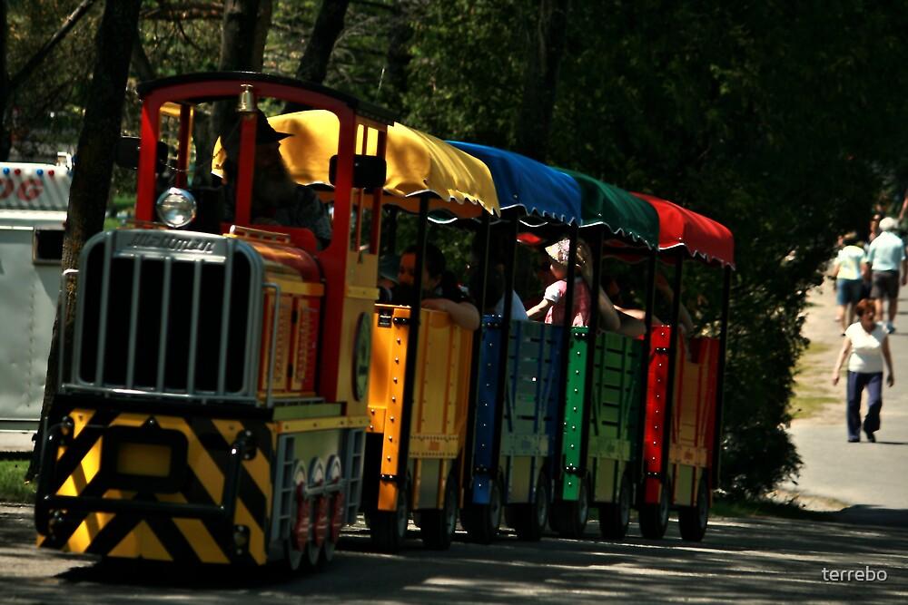 Rainbow Train by terrebo