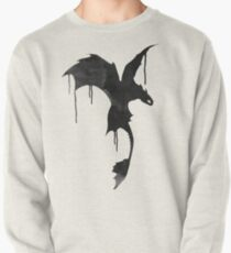Toothless Silhouette - Ink Drips Pullover