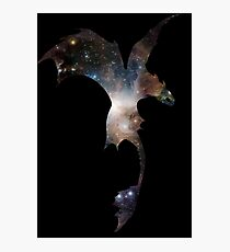 Toothless Silhouette - Galaxy Print Photographic Print