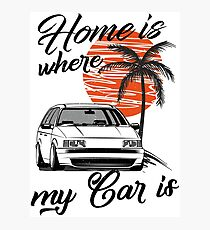 Passat B3 35i Variant & quot; Home is where my car is & quot; Photographic Print