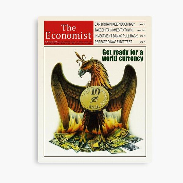 HD Reproduction of The Economist 1988 Canvas Print
