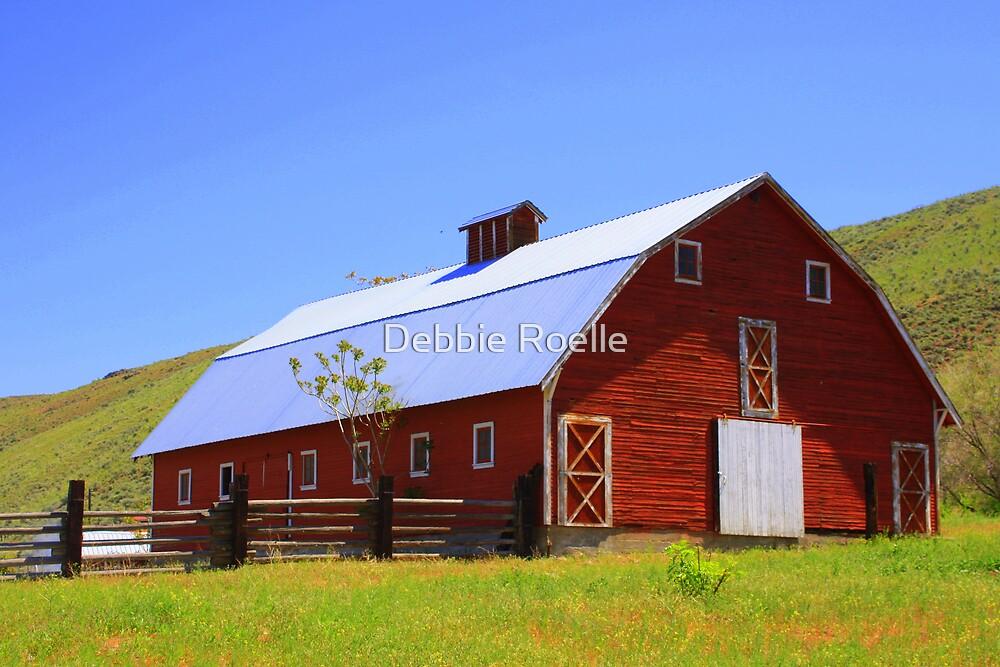 Big ol' red barn by Debbie Roelle