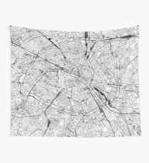 Paris Weiße Karte Wandbehang