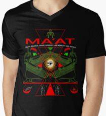 AKD  MA'AT MAAT Sacred Geometry Science Egyptian T Shirt (3) Men's V-Neck T-Shirt