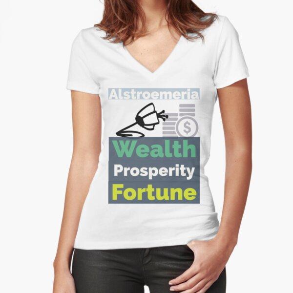 Alstroemeria2 Fitted V-Neck T-Shirt