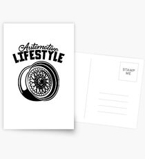 Automotive Lifestyle BBS Wheel Postcards