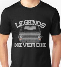 """Golf 1 GTI MK1 """"Legends Never Die"""" Unisex T-Shirt"""