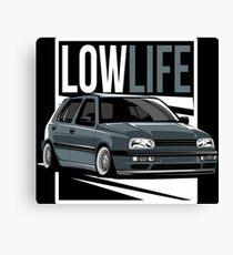 Golf 3 & quot; Low Life & quot; Canvas Print