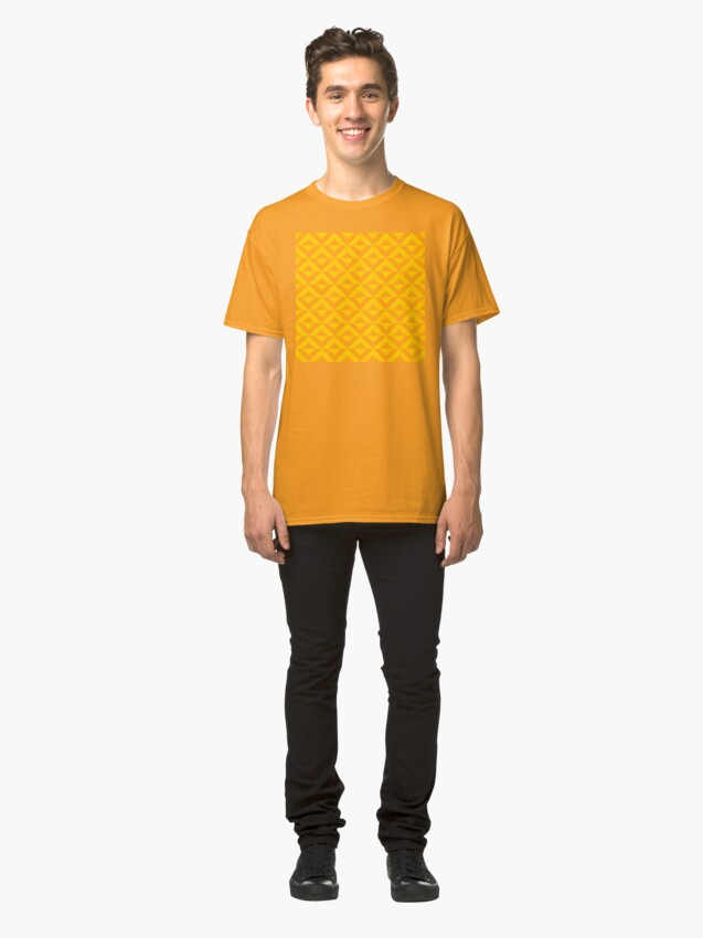Alternate view of Geometric Pattern: Diamond Split: Yellow Classic T-Shirt