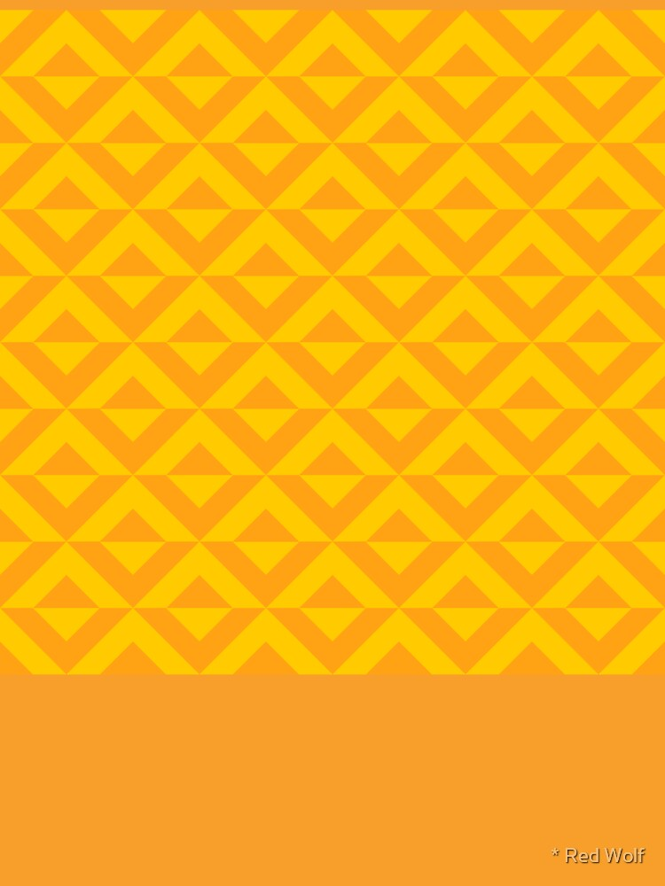 Geometric Pattern: Diamond Split: Yellow by redwolfoz