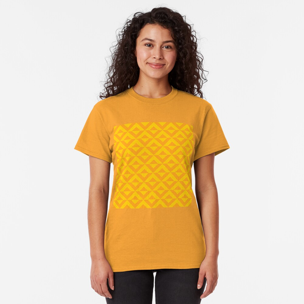 Geometric Pattern: Diamond Split: Yellow Classic T-Shirt
