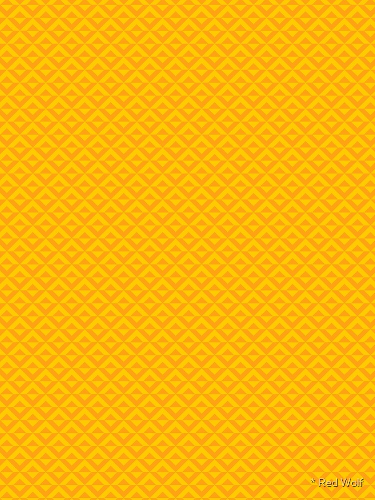 Geometric Pattern: Diamond Split: Yellow by redwolfoz