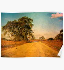 The Bend in the Road by the Willow Tree Poster