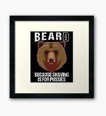 Bearded Bear Framed Print
