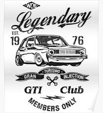 Golf 1 GTI MK1 & quot; Legendary & quot; Poster