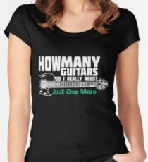 How Many Guitars Do I Really Need? Just One More Women's Fitted Scoop T-Shirt