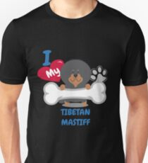 TIBETAN MASTIFF - I Love My TIBETAN MASTIFF Gift Unisex T-Shirt