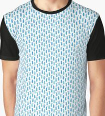 Blue Bird Feathers Graphic T-Shirt