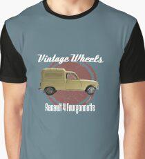 Vintage Räder - Renault 4 Fourgonnette Grafik T-Shirt