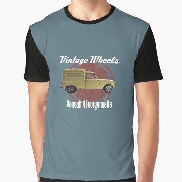 Vintage Wheels - Renault 4 Fourgonnette Graphic T-Shirt