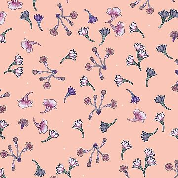 Tiny pastel flowers by smalldrawing