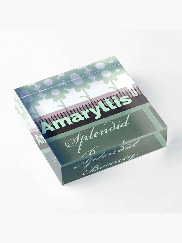 Alternate view of Amaryllis green  Acrylic Block