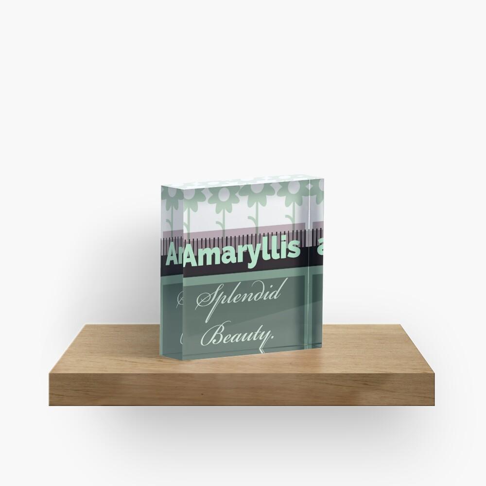 Amaryllis green  Acrylic Block