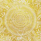 Medallion Pattern in Mustard and Cream by micklyn