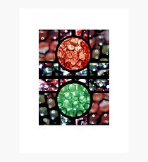 Coloured Marbles Photographic Print